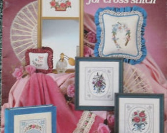 """Cross Stitch Pattern Leaflet """" BOUQUETS & LACE   """" Used"""