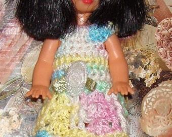 Handmade Crochet Dress For Kelly Barbie number  703