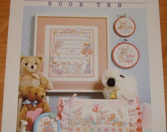 "Cross Stitch Pattern Leaflet "" Bunnies n Bears ""  Used"