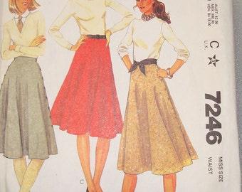 OOP  Vintage McCall's Womens Sewing Pattern 7246 Size 10 Waist 25 Uncut