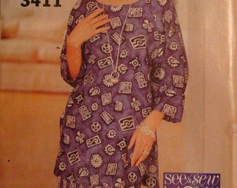 OOP  Butterick Womens Sewing Pattern 3411 size 6-10 Uncut