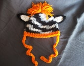 3-6 Month Zebra Hat Custom Color - Photo Prop