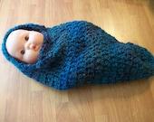 Hooded Baby Cocoon Pod - Photo Prop - Lagoon