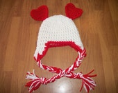 6-12 Month Valentine Hat - Photo Prop Red and White