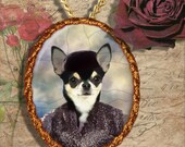 Chihuahua Smooth Haired Jewelry Brooch Handcrafted Ceramic by Nobility Dogs