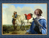 German Shorthaired Pointer Dog Art CANVAS Print Fine Artwork of Nobility Dogs Dog Portrait Dog Painting Dog Art Dog Print