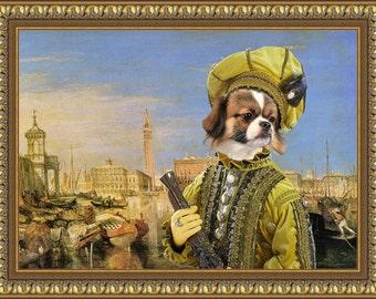 Tibetan Spaniel Art CANVAS Print Fine Artwork of Nobility Dogs Dog Portrait Dog Painting Dog Art Dog Print