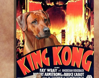 Rhodesian Ridgeback Vintage Movie Style Poster Canvas Print  NEW Collection by Nobility Dogs