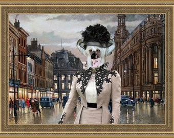 Chinese Crested Dog ART Print/ Chinese Crested Portrait/CANVAS Print/Dog Painting/Dog Art Print/Custom Dog Art - Portrait By Nobility Dogs