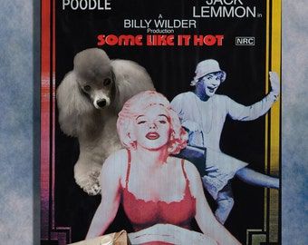 Poodle Vintage Movie Style Poster Canvas Print  NEW Collection by Nobility Dogs