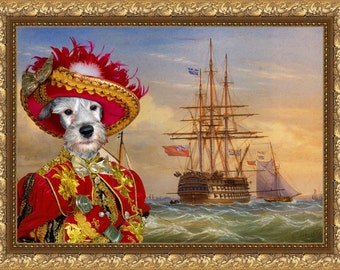 Cesky Terrier Art CANVAS Print Fine Artwork of Nobility Dogs Dog Portrait Dog Painting Dog Art Dog Print