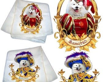 SALE - 40% OFF Samoyed Silk Scarf Gifts For Dog Lover by Nobility Dogs