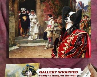 Papillon Art/Papillon CANVAS Print/Fine Artwork/Dog Portrait/Dog Painting/Dog Art/Dog Print/Custom Dog Art By Nobility Dogs