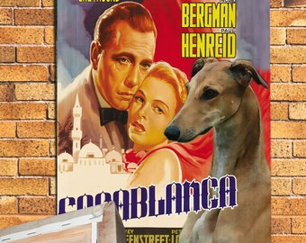 Greyhound Vintage Movie Style Poster Canvas Print  NEW COLLECTION by Nobility Dogs