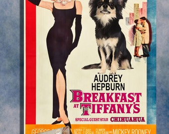 Chihuahua Vintage Movie Style Poster Canvas Print  NEW Collection by Nobility Dogs