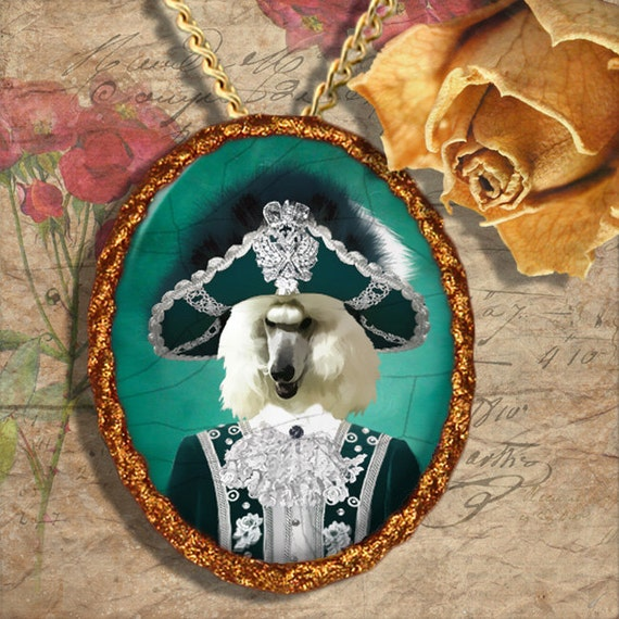 Standard Poodle Jewelry Brooch Handcrafted Ceramic by Nobility Dogs
