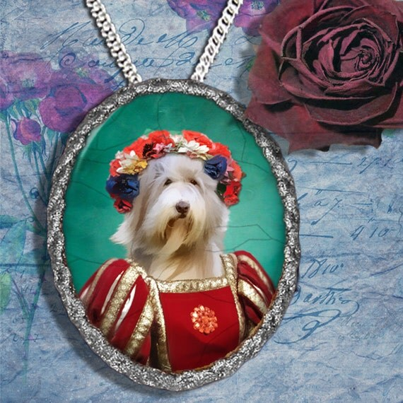 Bearded Collie Jewelry - Pendant - Brooch – Necklace – Dog Jewelry – Dog Pendant – Dog Brooch – Dog Custom Jewelry By Nobility Dogs