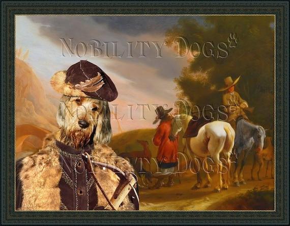 Otterhound Art CANVAS Print Fine Artwork of Nobility Dogs Dog Portrait Dog Painting Dog Art Dog Print