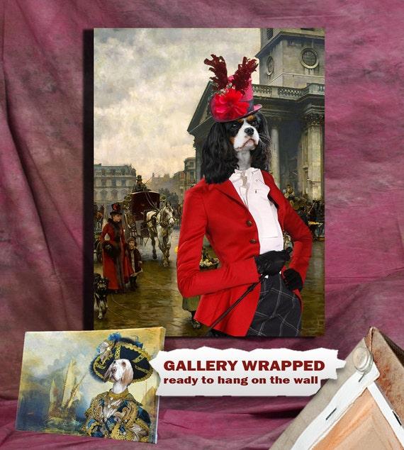 Cavalier King Charles Spaniel Art/Cavalier King Charles Spaniel CANVAS Print/Dog Portrait/Dog Painting/Dog Art/Dog Print/Custom Dog Art