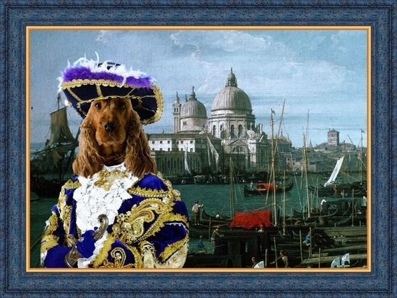 English Cocker Spaniel Dog Art CANVAS Print Fine Artwork of Nobility Dogs Dog Portrait Dog Painting Dog Art Dog Print
