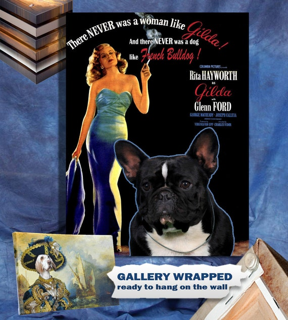 French Bulldog Print Fine Art Canvas - Gilda Movie Poster NEW COLLECTION by Nobility Dogs