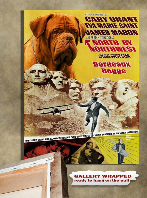 Dogue de Bordeaux Vintage Movie Style Poster Canvas Print  NEW Collection by Nobility Dogs