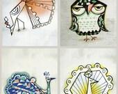 Owl and Bird Postcards