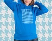 SALE/// Organic cotton fashion pullover hoodie - Sky blue
