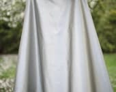 Silver Silk Satin Wrap Skirt