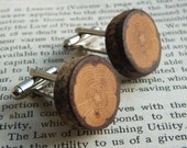 Rustic Oak Cuff Links Handcrafted in Scotland. Gift Boxed. Organic, Eco Friendly Natural Wood Cufflinks.