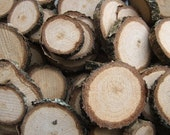Wood Supplies 100 Wooden Oak Slices. Button and Bead blanks. Supplies for all your Crafts and Projects. 1 to 2 inch Diameter