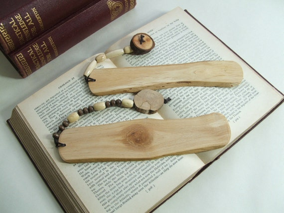 Rustic Wooden Bookmarks, A His and Hers Pair made from Oak
