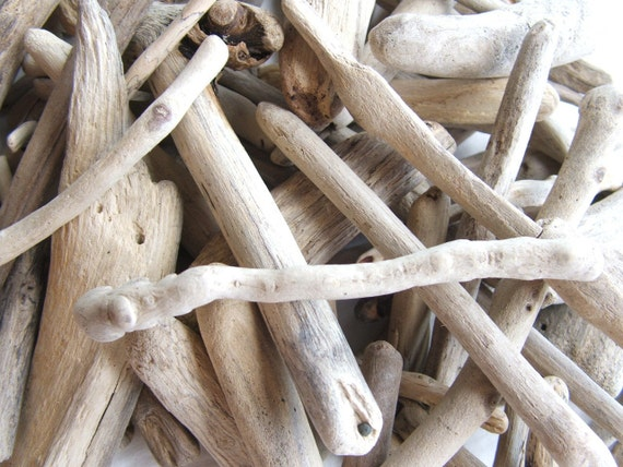 100 Driftwood Supplies Pieces 2  to 4 1/2 inches For Crafts and Projects