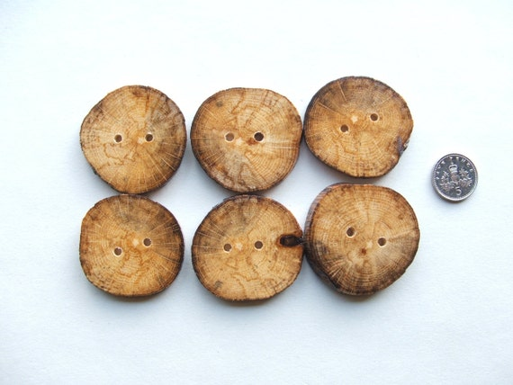 Spalted Oak Buttons, Beautiful and rustic. 6 x 1 1/2 inch