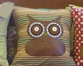 Brown Missoni Inspired Owl Pillow