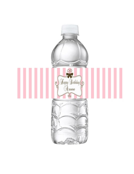 Items similar to printable water bottle labels juicy for Couture labels