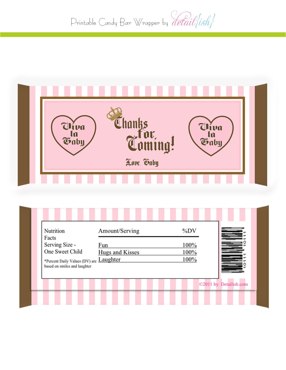Candy bar wrapper templates free and editable car for Candy bar wrappers template for baby shower printable free