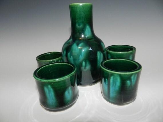 Emerald Falls Sake Set