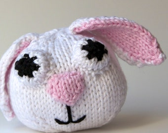 Knitted Toy Bunny Stuffed Animal, Easter, Amigurumi, Handmade Knit, spring