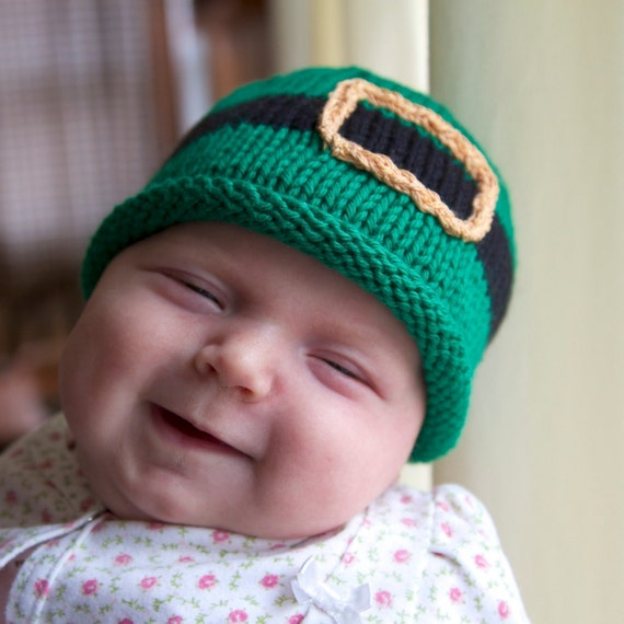Knitting Expat Etsy : Leprechaun knitted baby hat st patrick s day gift kids