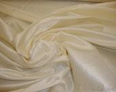 Vanilla Ice Shantung Dupioni Faux Silk fabric per yard