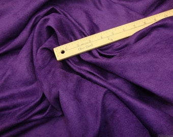 10 yards Purple Micro Suede upholstery fabric