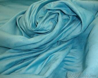 "Suede Aqua Micro Suede upholstery fabric per yard 58"" wide"