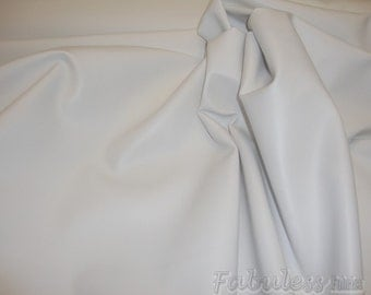"Vinyl Faux leather White Soft Skin PVC Clothing / Upholstery vinyl fabric by the yard 55"" wide"