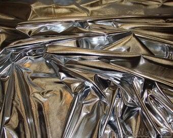 "Spandex Silver Metallic Lycra swimsuit custom fabric per yard 60"" Wide"