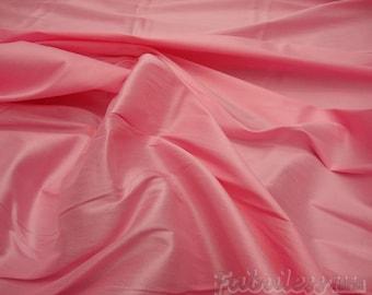 Bubble Gum Shantung Dupioni Faux Silk fabric per yard