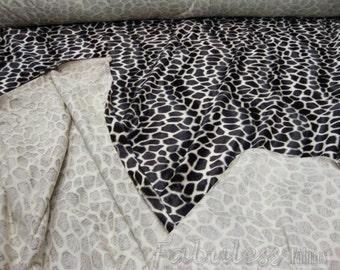 Velboa upholstery Giraffe Brown Velboa Fabric per yard