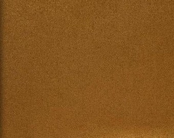 """Chestnut Polyester micro faux suede upholstery fabric by the yard 60"""" Wide"""