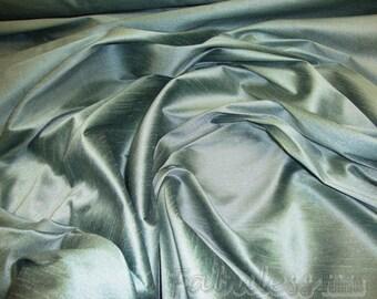 Lagoon Shantung Dupioni Faux Silk fabric per yard