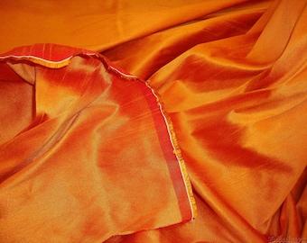 Russet  Shantung Dupioni Faux Silk fabric per yard